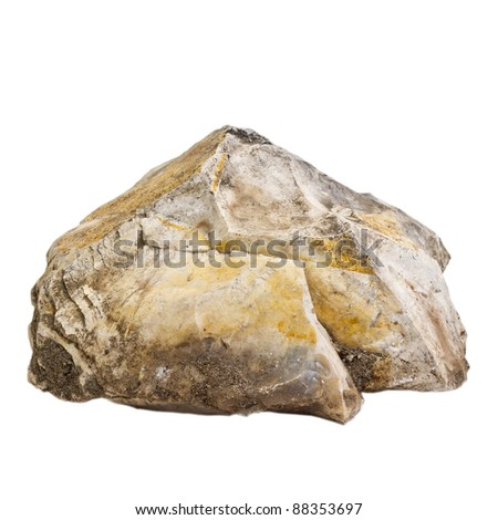 natural stone isolated on white background - stock photo