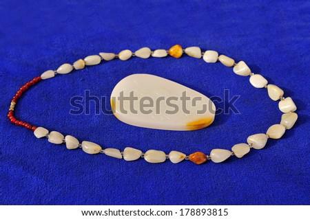 Natural stone jewelry store  - stock photo