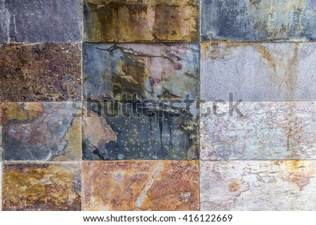 Natural stone tiles close up texture background - stock photo