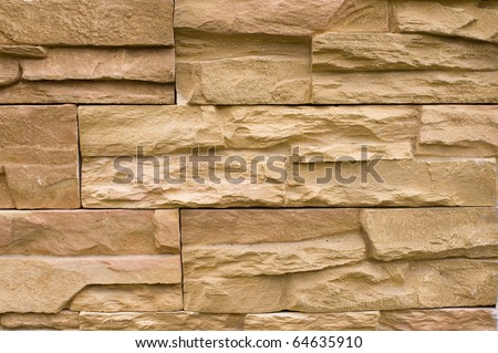 Natural stone wall for modern outdoor interior - stock photo