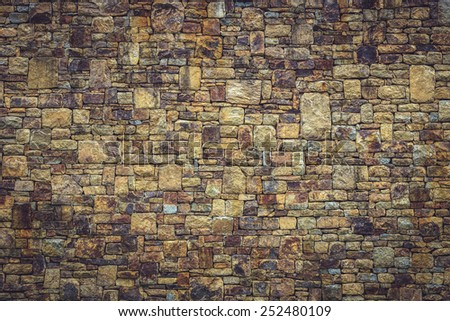 Natural stone wall texture for background - stock photo