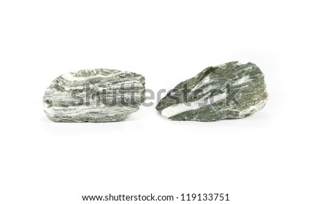 Natural stones isolated on white background - stock photo