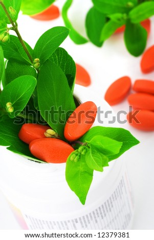 natural suppplements, concept of healthy lifestyle - stock photo