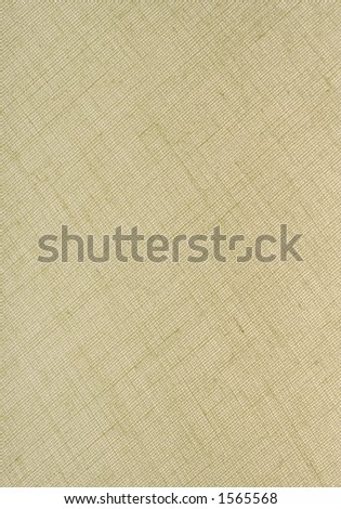 Natural Tan Linen Fabric Textured Background in a Vertical Orientation. - stock photo