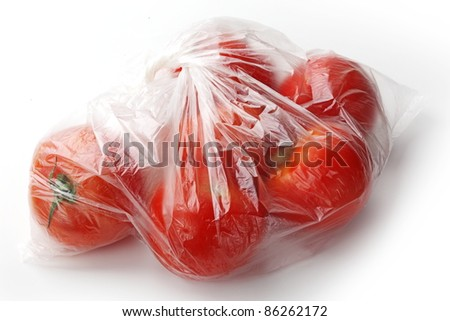 Natural tasty red tomato isolated on white.