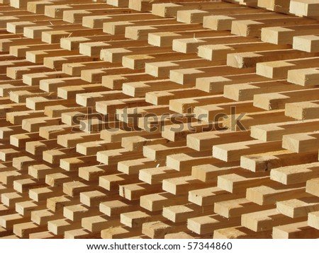 Natural timber and lumber industry background - stock photo
