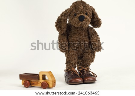 Natural toys made of safe materials - stock photo