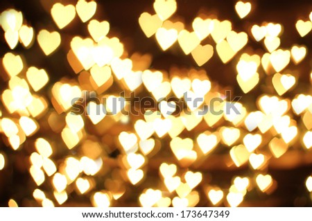 natural valentine background made by lens .Blurred lights - stock photo