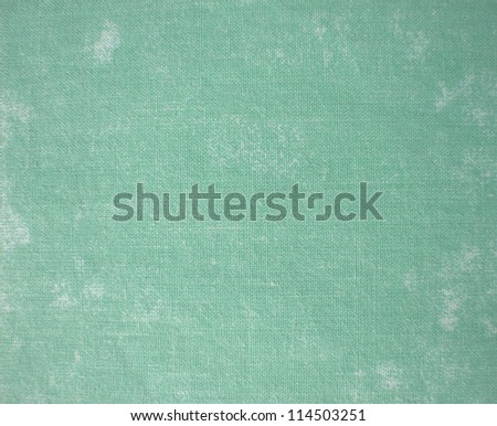 Natural vintage cotton textured fabric texture, old background, green - stock photo