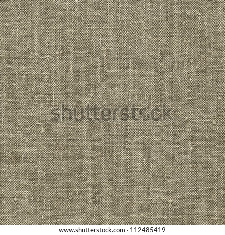 Natural vintage linen burlap textured fabric texture, detailed old grunge rustic background in tan, beige, yellowish, grey gray canvas copy space - stock photo