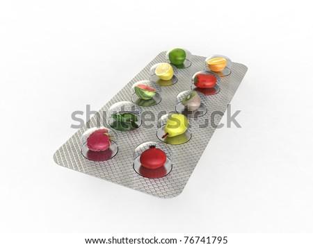 natural vitamin pills - stock photo