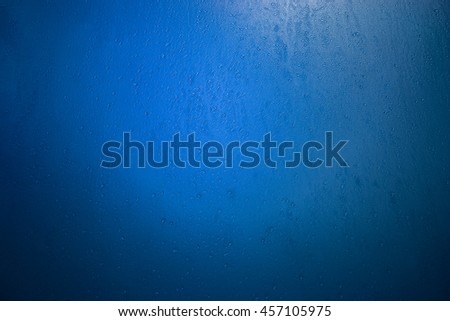 Natural water drops on the glass - stock photo