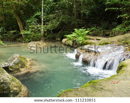 Natural waterfall in forest