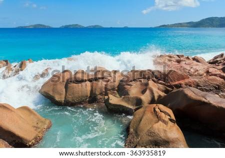 Natural Wonder LaDigue Stones  - stock photo