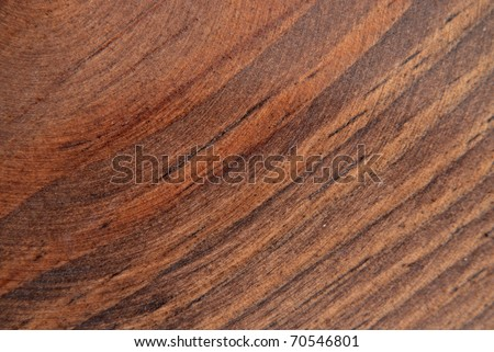 Natural wood grain design of oak wood with cherry stain finish. Macro showing texture and details. - stock photo