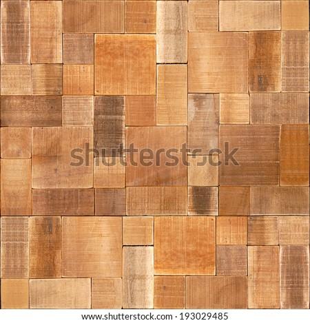 Natural wooden blocks - seamless background - wood wall - Decorative paneling pattern - wood texture - wood paneling - stock photo