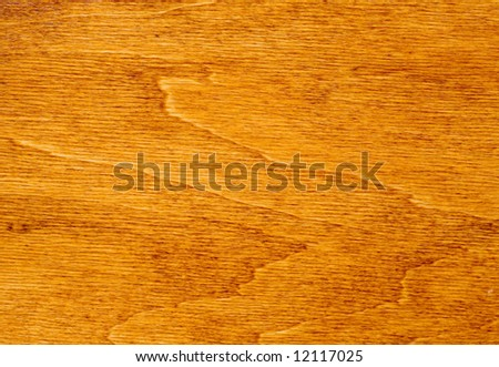Natural wooden surface. Pine varnished to nut wood (walnut) color. - stock photo