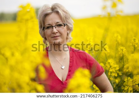 Natural 40 years old woman - stock photo