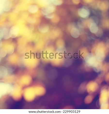Natural yellow blured background with bokeh - stock photo