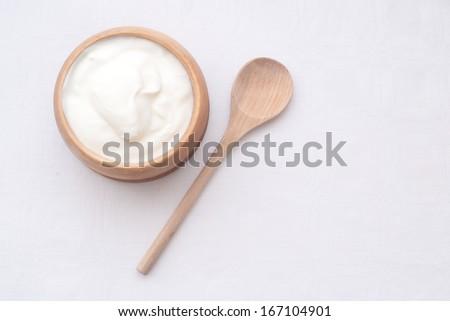 natural yogurt - stock photo