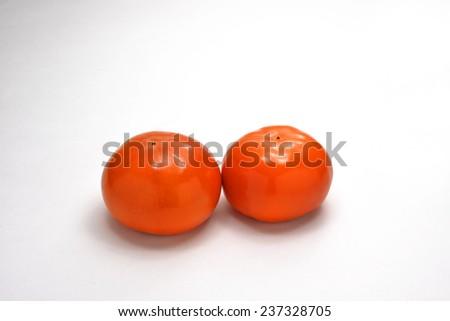 Naturally fresh fruit/Persimmon - stock photo