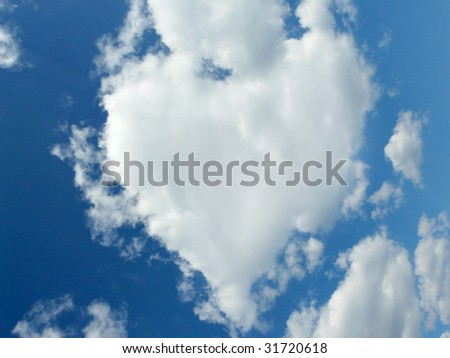 Naturally heart shaped cloud
