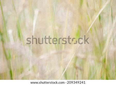Nature abstract: landscape. Soft focus. Vintage paper background. Effect of watercolor paper. - stock photo