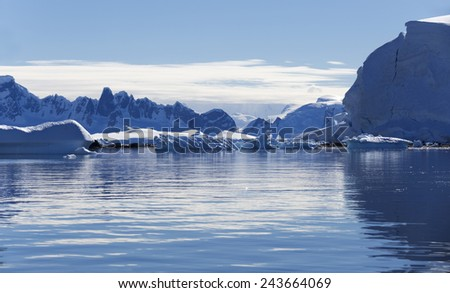 Nature and landscapes of Antarctic.Climatic and atmospheric changes. Thawing of ices and phenomenon of global warming.