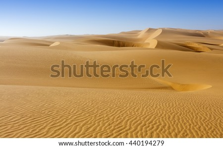Nature and landscapes of desert. Middle East desert - stock photo