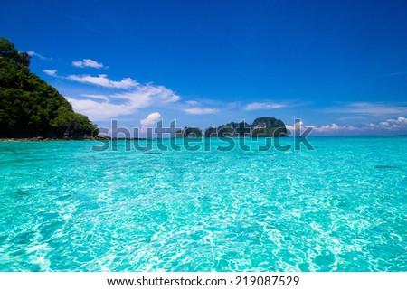 Nature And Nobody Desert Island  - stock photo
