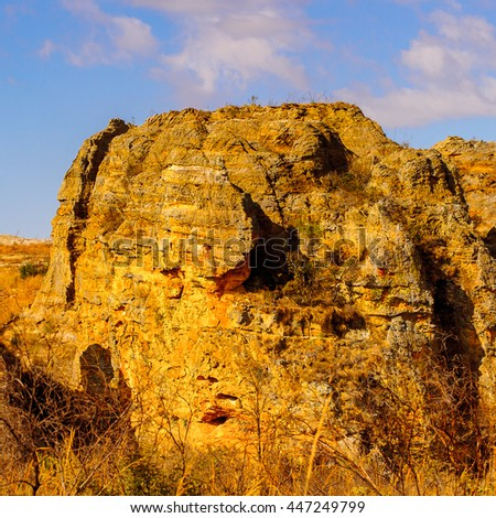 Nature and the rock formations in Madagascar, Africa - stock photo