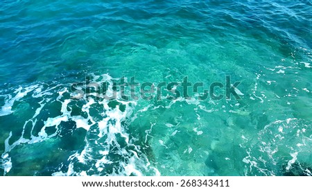 Nature background of transparent sea water - stock photo