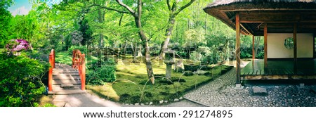 nature background panorama in Japanese park