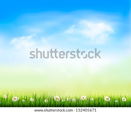 Nature background. Raster version of vector - stock photo