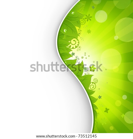 Nature Background With Green Leaves - stock photo