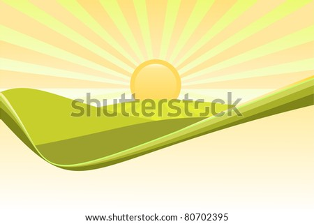 Nature backgrounds with rays of sun - stock photo