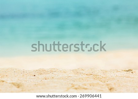 Nature beautiful Sand beach background. - stock photo