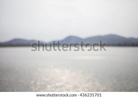 Nature blurred background - stock photo