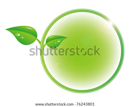 Nature concept bright with lens flare - stock photo