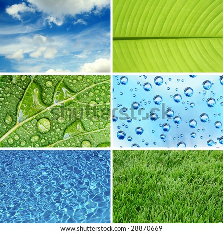 Nature eco backgrounds - stock photo