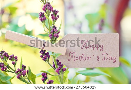 nature greeting card background - happy mothers day - stock photo