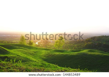 Nature hill scenics in Gloucester UK - stock photo