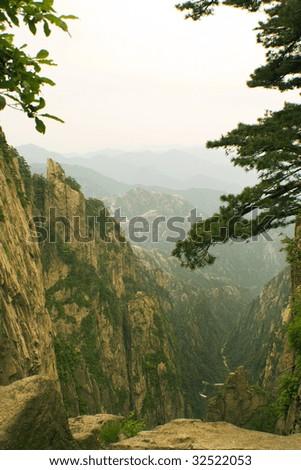 nature, landscape, huangshan - stock photo