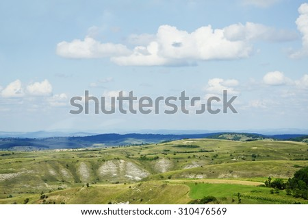 Nature Landscape in Sunny Day - stock photo