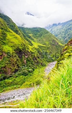 Nature near Banos de Agua Santa (Baths of Holy Water), Ecuador - stock photo