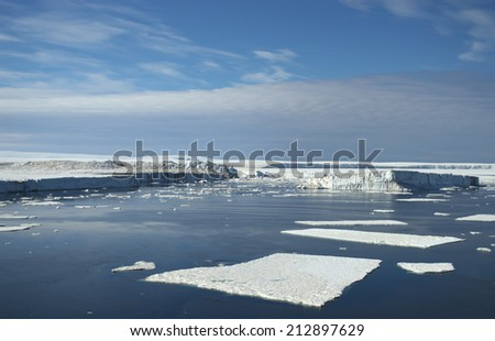 Nature of Antarctic - stock photo