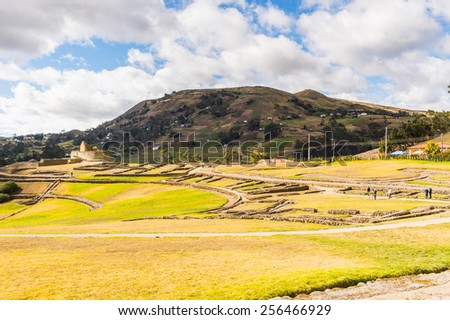 Nature of Ingapirca, Inca city,  Canar Province, EcuadoEcuador - stock photo