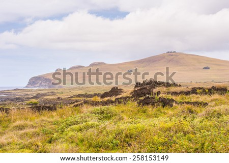 Nature of the Easter Island, Chile - stock photo