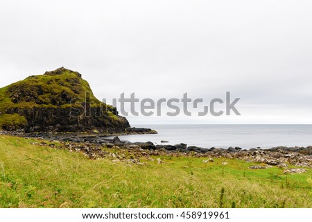 Nature of the Giant's Causeway and Causeway Coast, the result of an ancient volcanic eruption UNESCO World Heritage Site