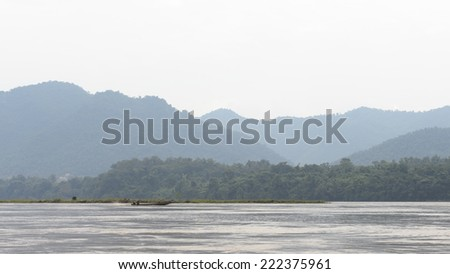 Nature of the Mekong river in Asia - stock photo